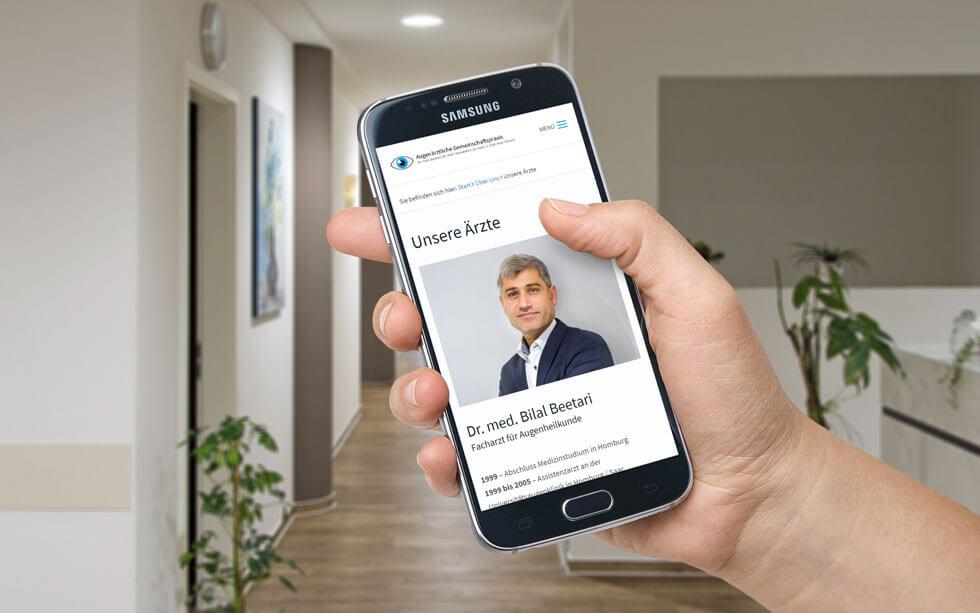 Neue Website für die Augenarztpraxis Beetari aus Neunkirchen