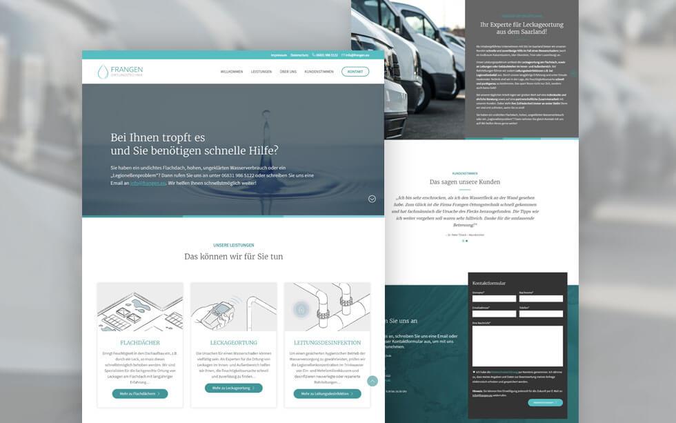 Unternehmenswebsite für die Firma Frangen Ortungstechnik aus Wallerfangen