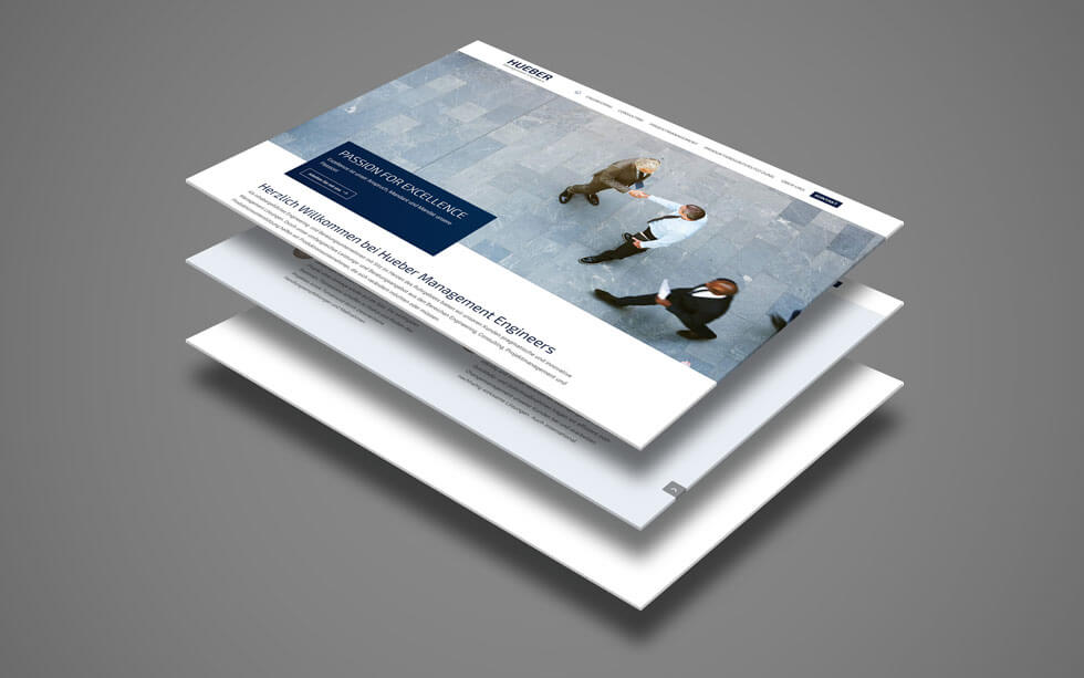 Webdesign für das Engineering Unternehmen Hueber Management Engineers aus Essen