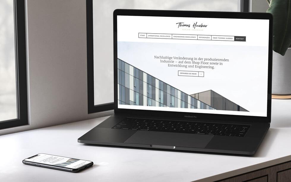 Webdesign für den Diplom-Ingenieur Thomas Hueber aus Essen