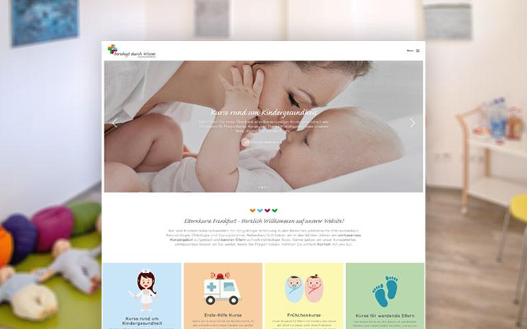 Webdesign und Webentwicklung der Website von Elternkurse Frankfurt.