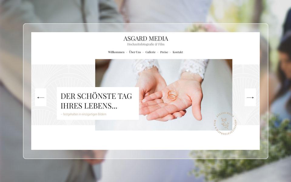Webdesign Saarland. Website von Asgard Media - Hochzeitsfotografie & Film.